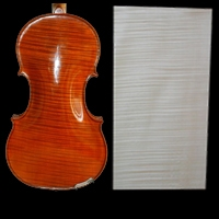 1 piece violin / viola maple