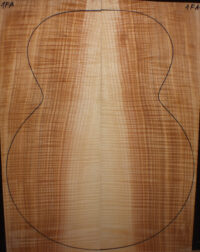 Flamed ash for acoustic / classical guitar